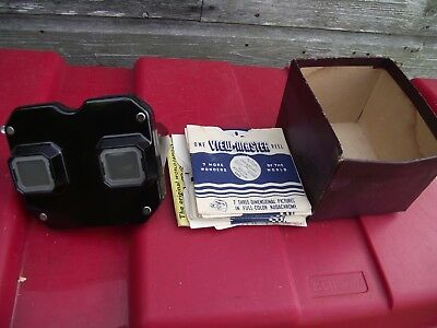 Vintage USA BAKERLITE  1940s 3D Sawyers View-Master with 10 slides SEE PICTURES