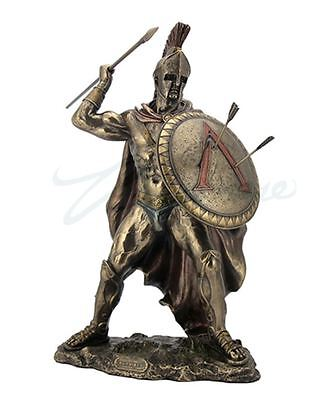 Leonidas with Spear and Shield Statue Greek King Of Sparta Sculpture HOME DECOR