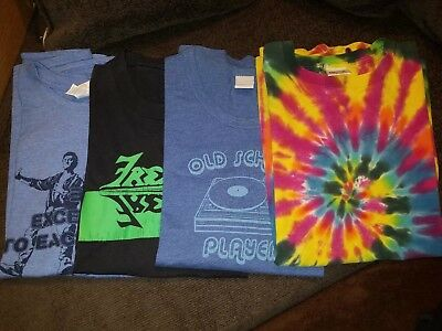6) Pop culture t shirt lot size XL. Old school, frenzy, tie dye, bill and ted