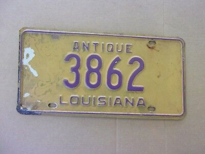 1983 Louisiana Antique License Plate 3862