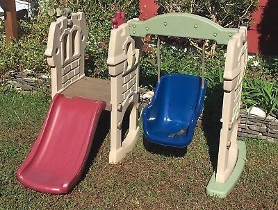 Little Tikes Hide Seek Climber And Swing Brown Tan