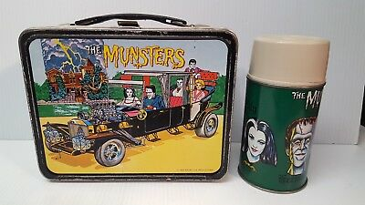 Vintage The Munsters Metal Lunch Box With Thermos 1965..clean!
