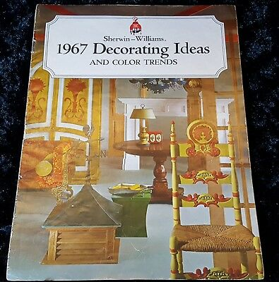 1967 MCM Vtg DECORATING IDEAS & COLOR TRENDS Sherwin Williams BIG BOOKLET Mid C