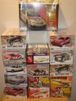 Revell New & AMT Sealed Lot of Model Kits (mixed 15 as seen)  1/24-1/25