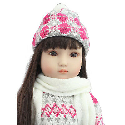 Reborn Girl Vinyl Doll Toddler Lifelike Princess Long Hair Baby Dolls Xmas Gift