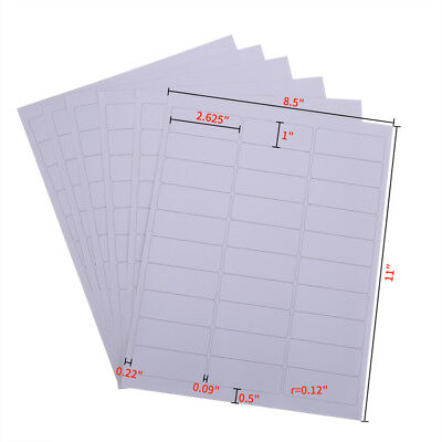 3000 white address labels/100 sheets amazon FBA barcode labels 30 per sheet