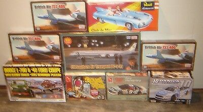 Revell New & Lindberg Truck Mixed Lot  Model Kits (mixed scale of 9 as seen)