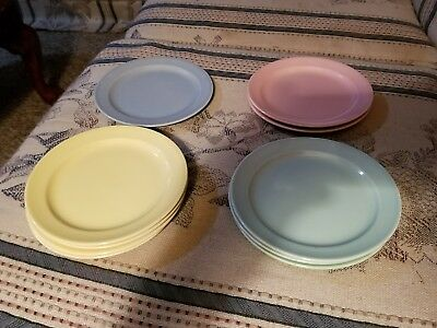 """10  LURAY PASTELS 6 3/8"""" Vintage  Bread & Butter Plates"""