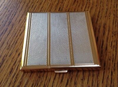 Square AGME Vintage Powder Compact Made in Switzerland