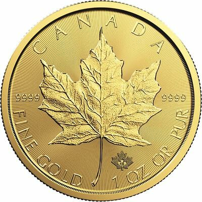 2018 Canadian Maple Leaf 1 oz Gold Coin - Direct From Mint Tube