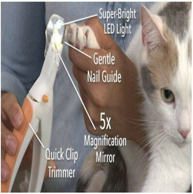 Multi-function Pet Nail Trimmer Pet Care Clippers Grinders With LED for Cat Dog