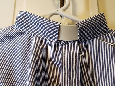 Clerical shirt.  Blue pin stripe.