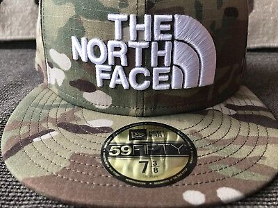c716fe8041fff NORTH FACE X NEW ERA® 59FIFTY FITTED CAP MULTICAM Rare Sample NWT CAMO CAMP  HAT