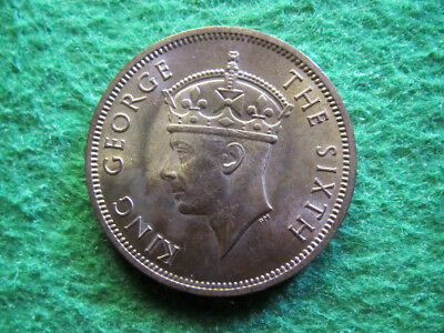 1948 Seychelles 5 Cents - Red BU - ONE YEAR TYPE! - Free U S Shipping