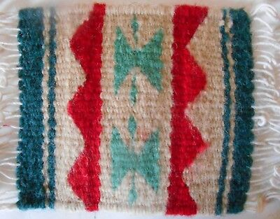 Zapotec Wool hand made woven Rug or Coaster 5 x 5 inch at Heard Museum for $12.