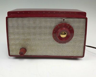 Vintage Westinghouse Red Table Radio Model H-500T5A