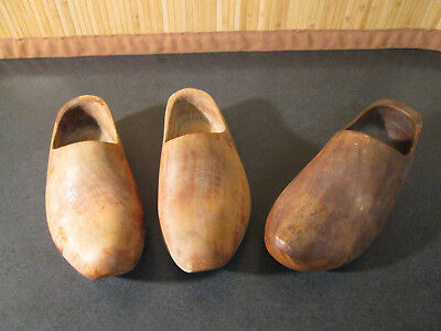 Unpainted HD Dutch Wooden Shoes Made in Holland  - 1 Pair Plus 1 Single -