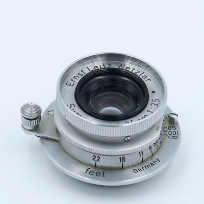 Ernst Leitz Wetzlar Leica Summaron f=3.5cm 1:3.5 lens - Read Description