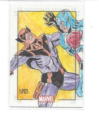 Marvel Heroes & Villains sketch - Captain America & Batroc (by Raimundo Nonato)