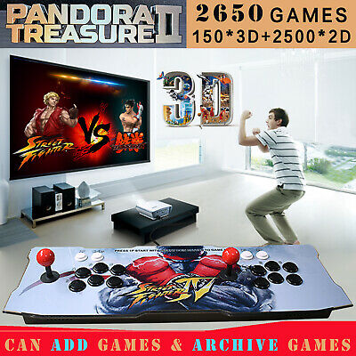 2200 Games Pandora Box Treasure 3D Arcade Console Machine Retro Video Game HDMI
