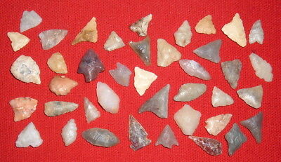(40) Assorted Small Sahara Neolithic Points, Prehistoric African Artifacts