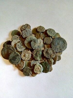 085.Lot of 45 Ancient Roman Bronze Coins,Uncleaned