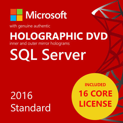 MSFT SQL Server 2016 Standard Edition 16 Core Unlimited CAL