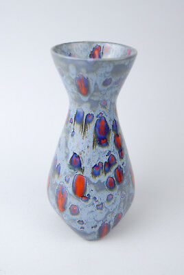 Marc Bellaire signed vase Mid Century Modern California MCM Blue 1950s 1960s