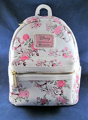 Loungefly Disney Aristocats Marie Floral Mini Faux Leather Backpack Sold Out NWT