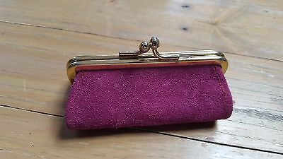 Antique pink suede ladies purse