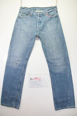 Levi's 501 Customized (Cod. H1996)Tg48 W34 L34 jeans gebraucht hohe Taille Levis