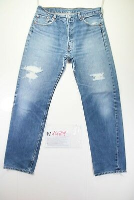 Levi's 501 Destroyed Customized Cod. M1489 tg50 W36 L34 jeans gebraucht