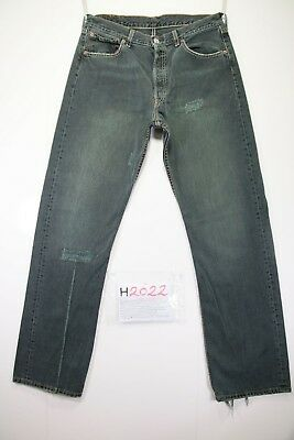 Levi's 501 Destroyed Cod. H2022 Tg48 W34 L34 jeans gebraucht hohe Taille vintage