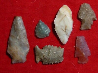 Colorado arrowheads-Mesa  county  -- Group of stone relics--just out last week