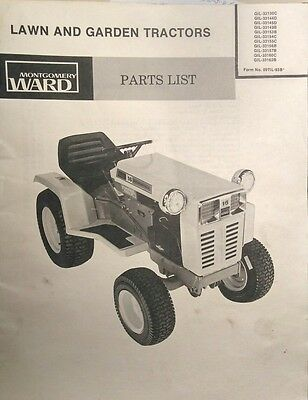 montgomery ward gilson 1974 hydrostatic 16 h p  garden tractor parts manual  36pg