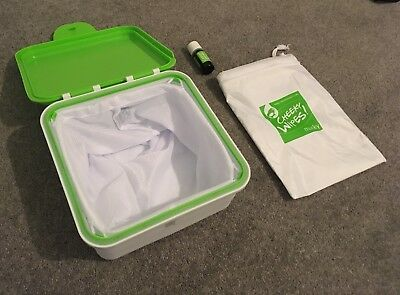 Cheeky Wipes Box, Wet Bag And Essential Oil For Storing Used Reusable Wipes