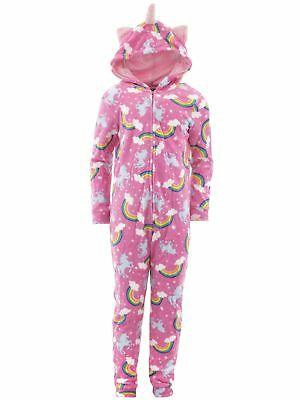 dELiA*s Girls Unicorn Pink Hooded One-Piece Pajamas