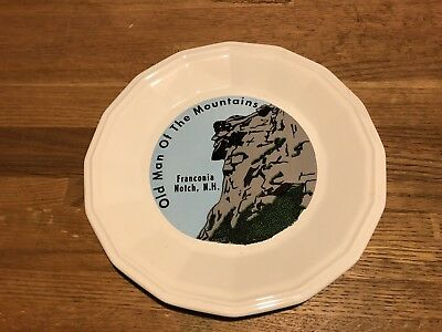 Beautiful Vintage Old Man Of The Mountain Plate Franconia Notch New Hampshire