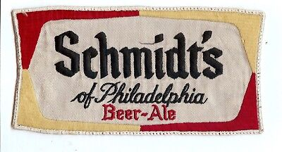 2 Vintage Schmidt's Of Philadelphia Embroided Beer Patches