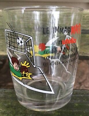 Nutella Promotional Glass Tumbler Boy Playing Soccer