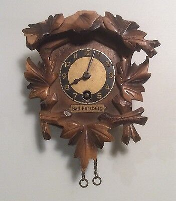 Antique Cuckoo Clock Germany Bad Harzburg Collectible Timepiece Ornament Home