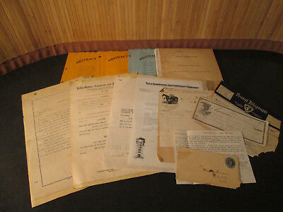 Antique Paper Document Mixed Lot - Trust Indenture, Abstract of Tile & Much More
