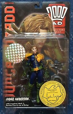 2000AD Judge Anderson Reaction Variant figure, 1/250, signed by John Wagner