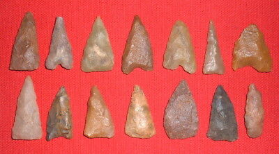 (14) Nice Sahara Neolithic Algerian Points, Tools, Prehistoric African Artifacts