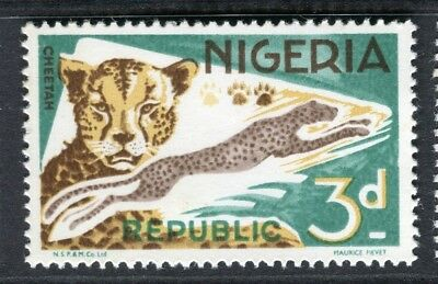 NIGERIA; 1965 early QEII Animals issue fine MINT MNH unmounted 3d.
