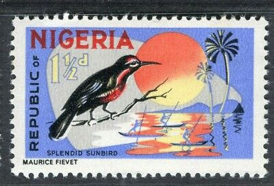 NIGERIA; 1965 early QEII Animals issue fine MINT MNH unmounted 1.5d.