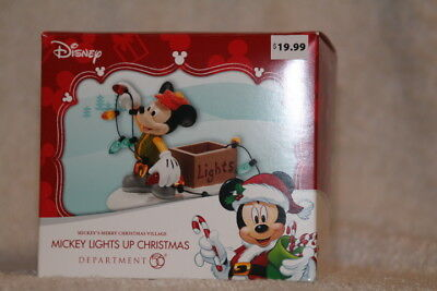 Department 56 Mickey Lights Up Christmas - Mickey's Merry Christmas Village