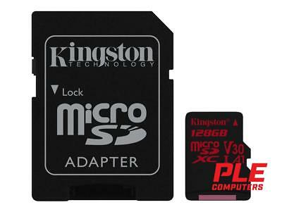 Kingston Canvas React 128GB Class 10 UHS-1 MicroSD Card (inc. SD Adapter)[SDC..