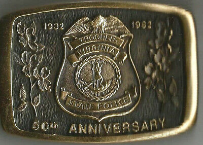 Virginia State Police 50th Anniversary Belt Buckle