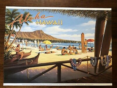 Vintage Kerne Erickson Ahola Hawaii Print 8 3/4 By 12 Inches